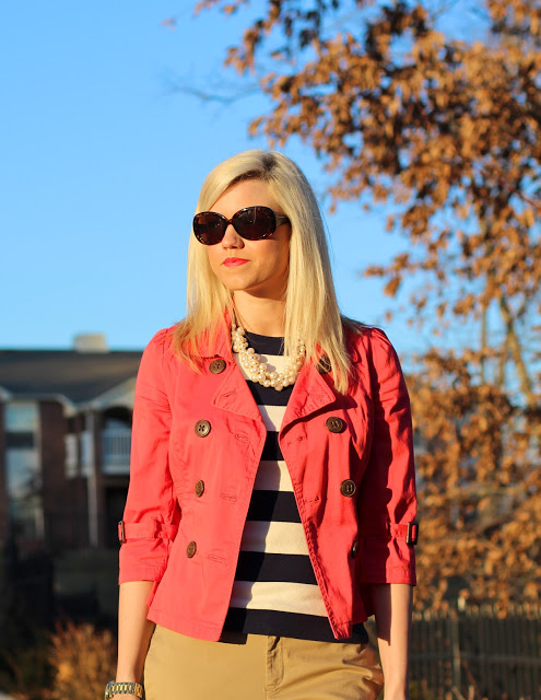 Outfit Post: Striped Flamingo