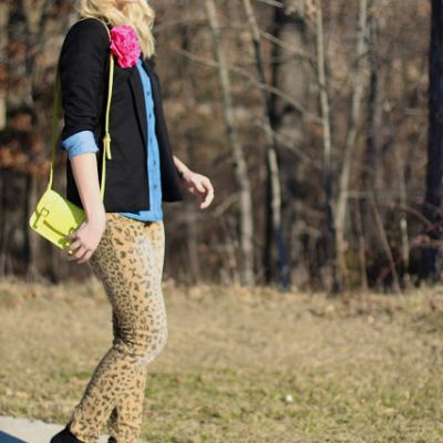 Outfit Post: Leopard & Neon