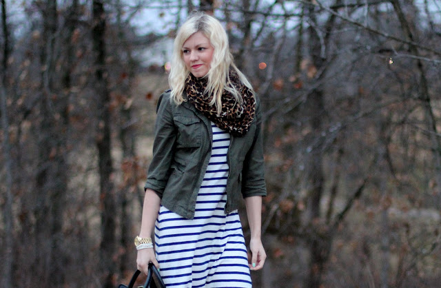 Outfit Post: Stripes With A Side of Leopard