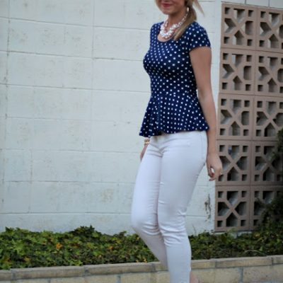 Outfit Post (with video!): Peplum Polka Dots