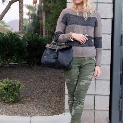 Outfit Post: Camo/Stripes/Spots