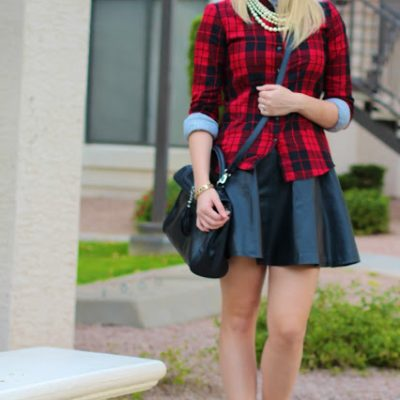 Outfit Post: Faux Leather Faux Pearls