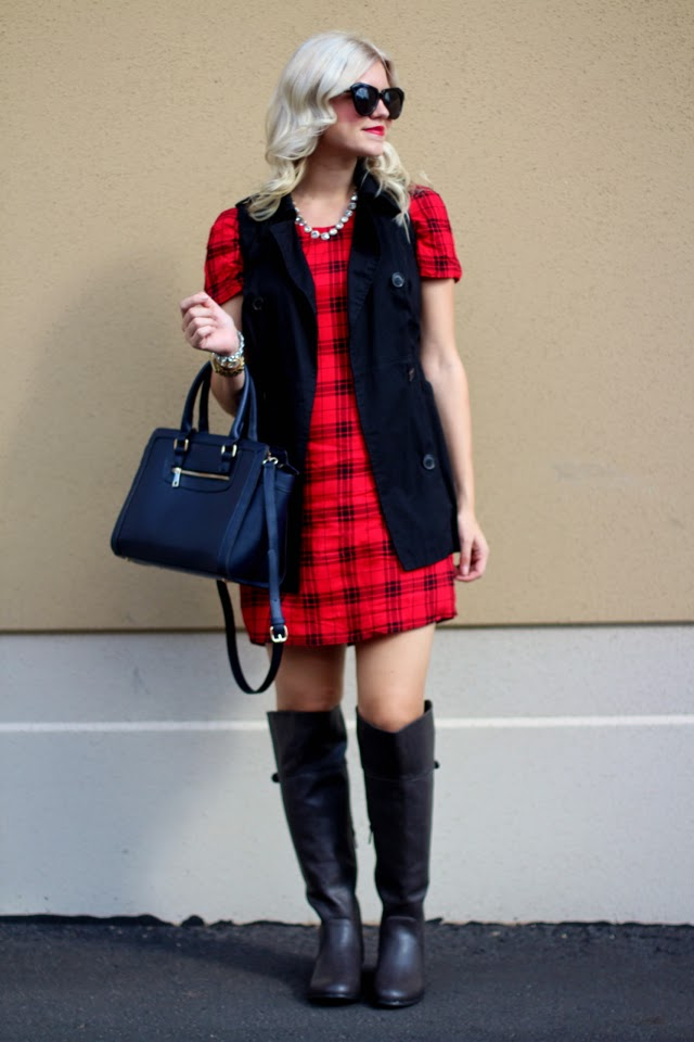 A Week of Plaid | the mini-dress