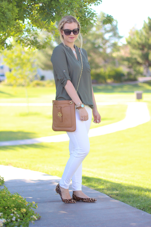 Olive and White