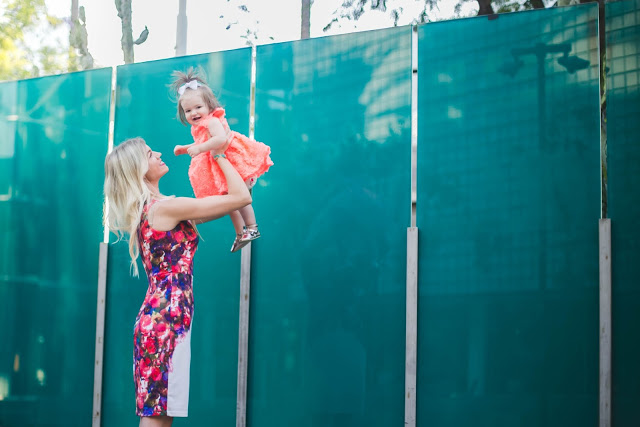 Mommy + Me Neon Dresses by fashion blogger Elle of Living in Color
