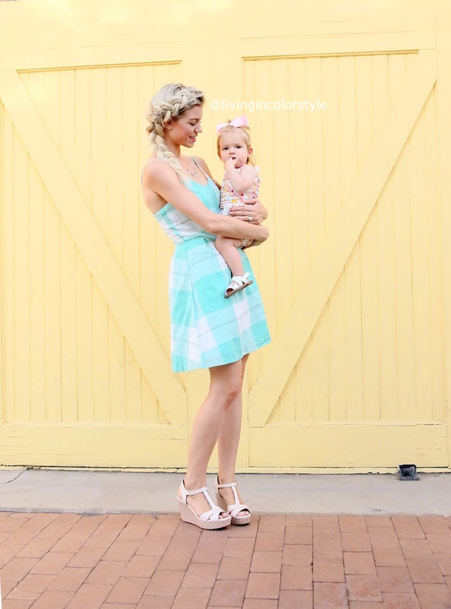 Mommy and Me Summer Dresses by fashion blogger Elle of Living in Color