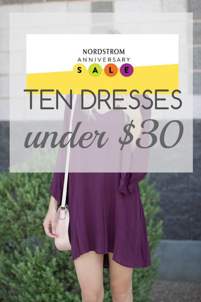 Ten Nordstrom Dresses Under $30