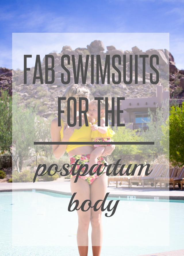 Fab Postpartum Swimsuit by fashion blogger Elle from Living in Color