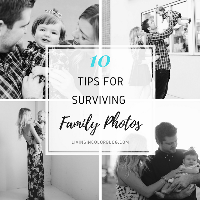 Tips For Surviving Family Photos | Featuring Tips From A Photographer