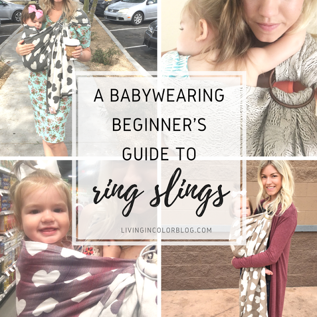Mommy blogger Larissa of Living in Color shares tips for beginners on how to use a ring sling when babywearing. Read more now.