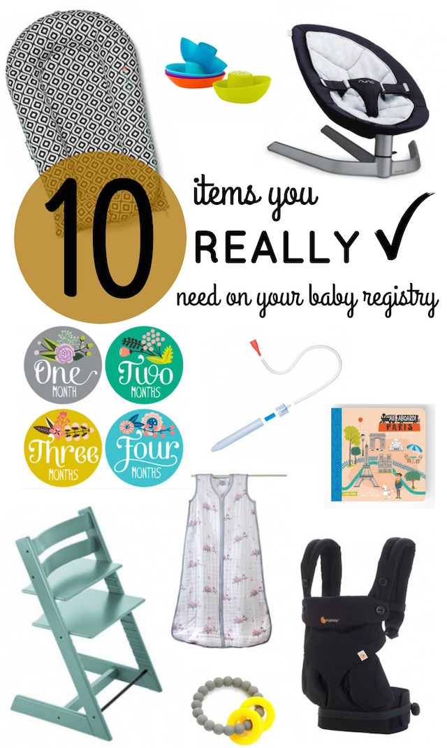 Ten Items You REALLY Need On Your Baby Registry