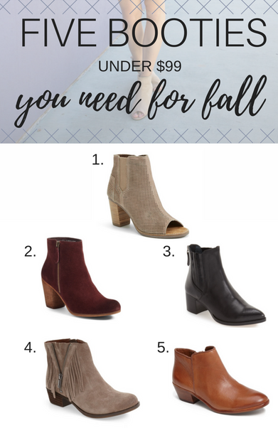 Favorite Fall Booties Under $99 + A Link-Up
