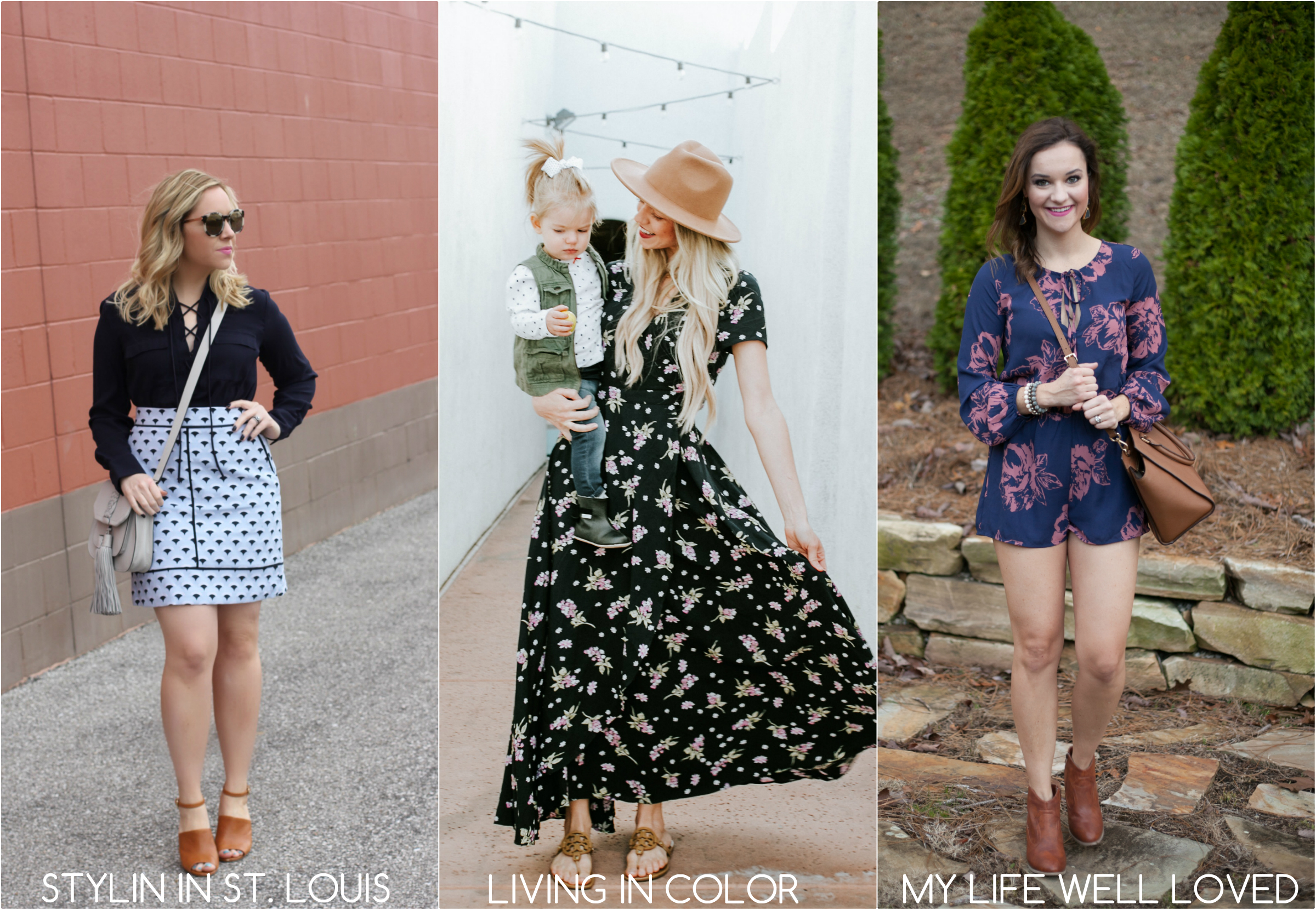 My favorite and affordable must-have floral spring dresses. These are all great options for Easter Sunday, or any day, really!