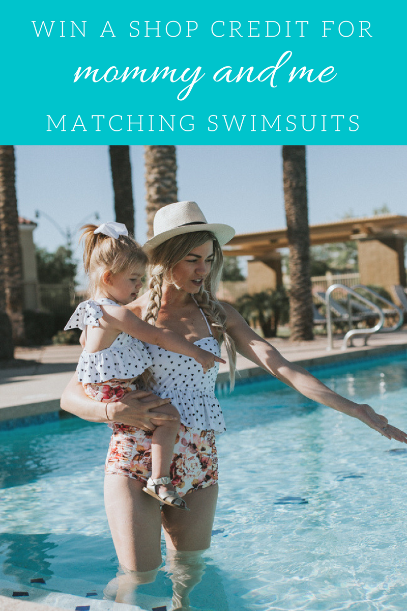 Lifestyle blogger, Larissa, of Living in Color shares mommy and me swimsuits by Kortni Jeane and she's giving away a $100 shop credit. Read more now!