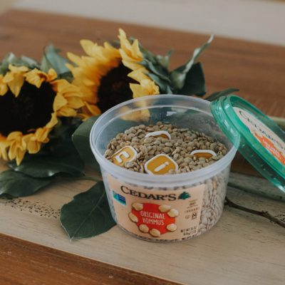 DIY Sensory Bin Made From a Food Container