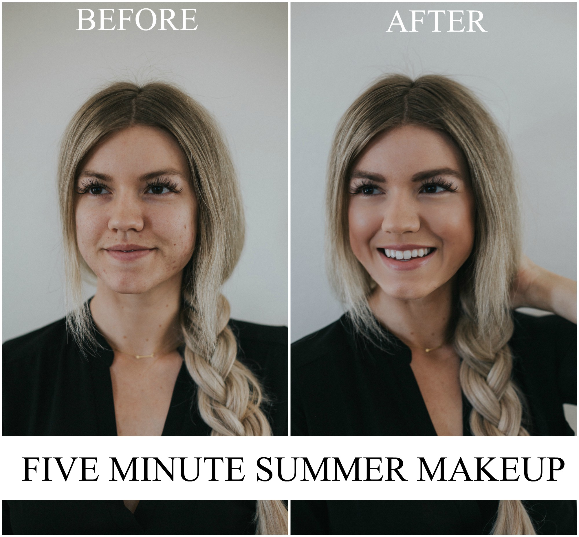 Fashion and beauty blogger Larissa of Living in Color shares her tips on five-minute makeup for moms. See her full tutorial now on the blog.