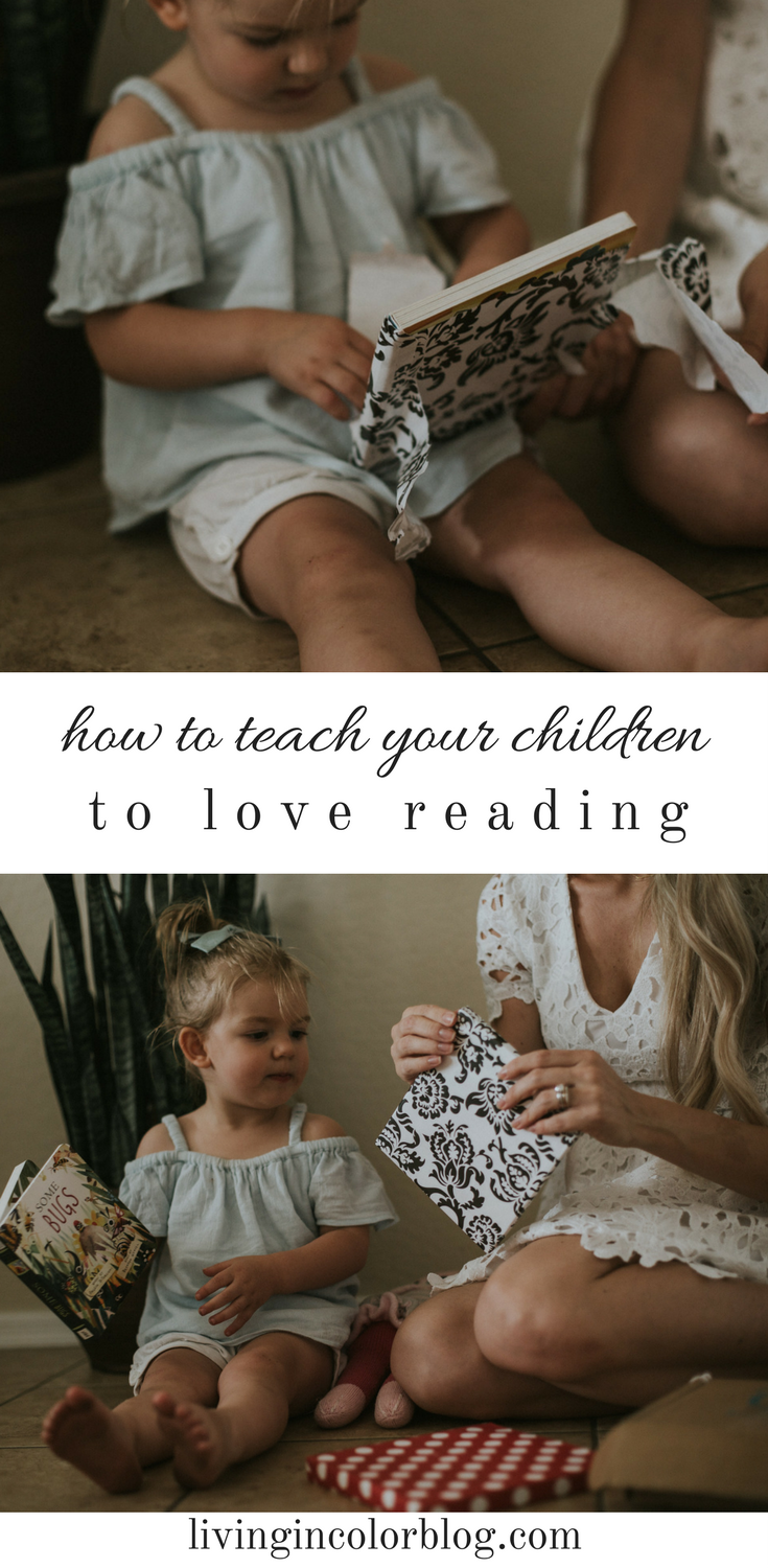Mom blogger Larissa of Living in Color blog shares her tips on how to teach your children to love reading. Read more now.