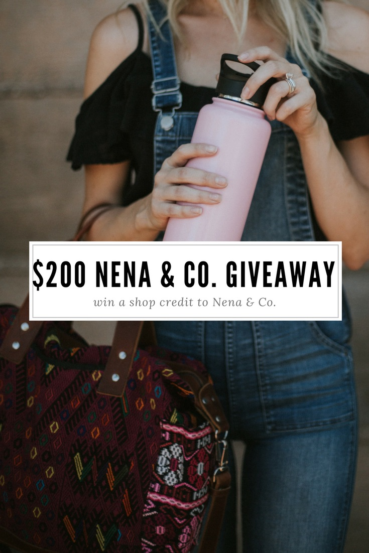 Fashion and style blogger Larissa of Living in Color blog hosts a giveaway for a $200 Nena & Co. shop credit. Read more now.