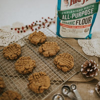 Easy, Five-Ingredient Vegan Peanut Butter Cookies