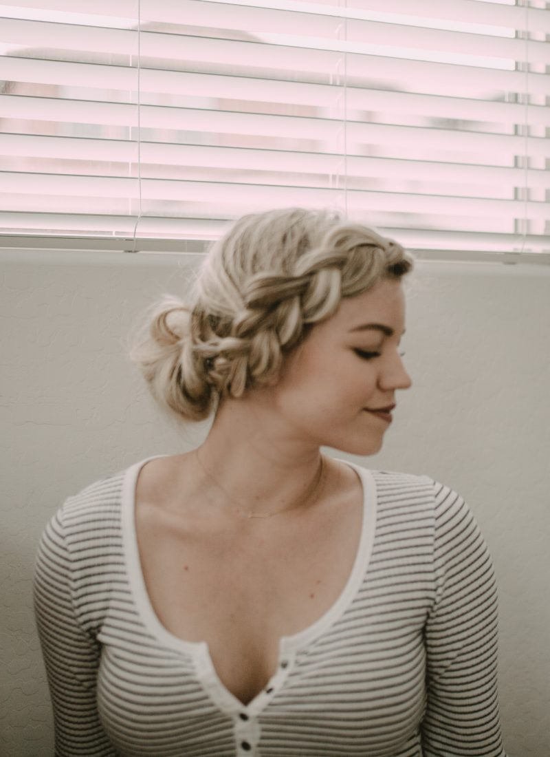 Easy Braided Updo (in 5 minutes or less)