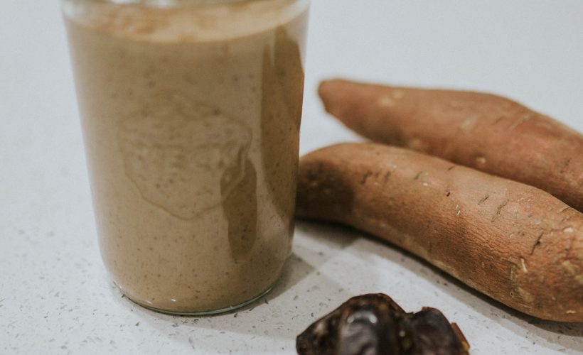Healthy Sweet Potato Chocolate Peanut Butter Smoothie