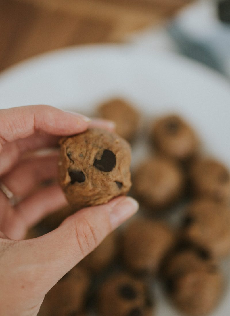 Grain Free Peanut Butter Cookie Dough Bites (GF, DF)