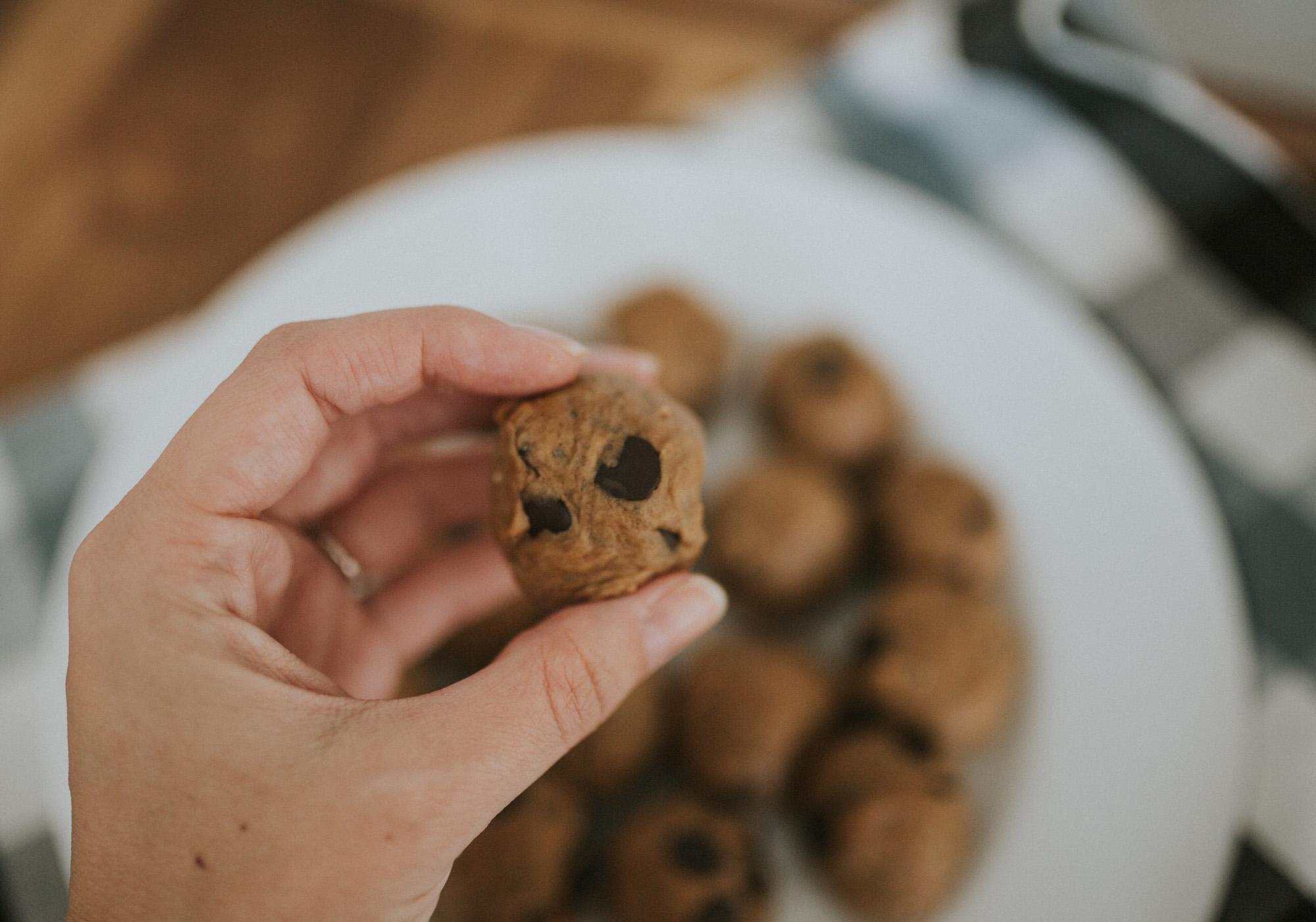 Grain Free Peanut Butter Cookie Dough Bites (GF, DF)