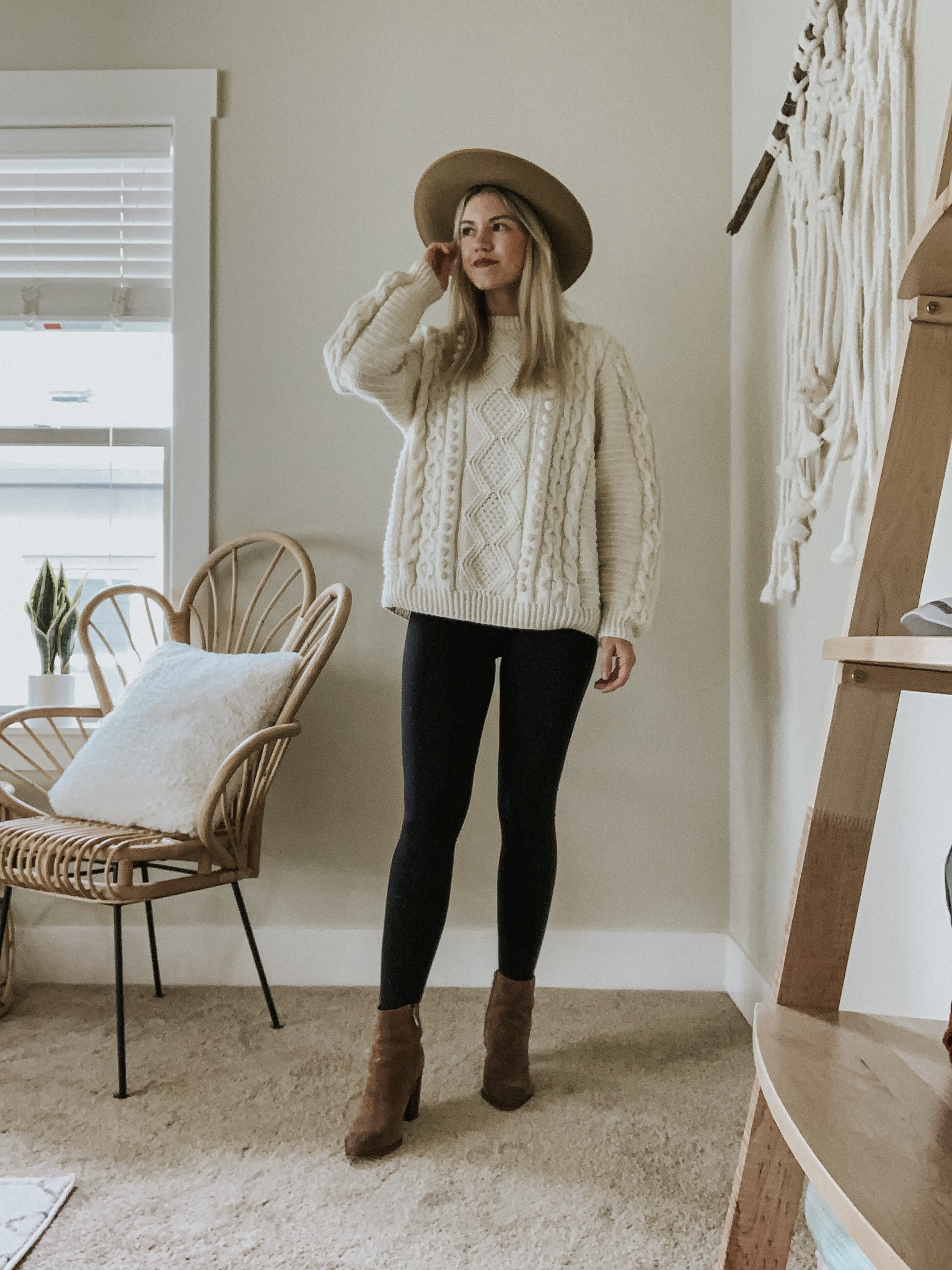 Sustainable Style Sessions | Cream Knit Sweater for Spring