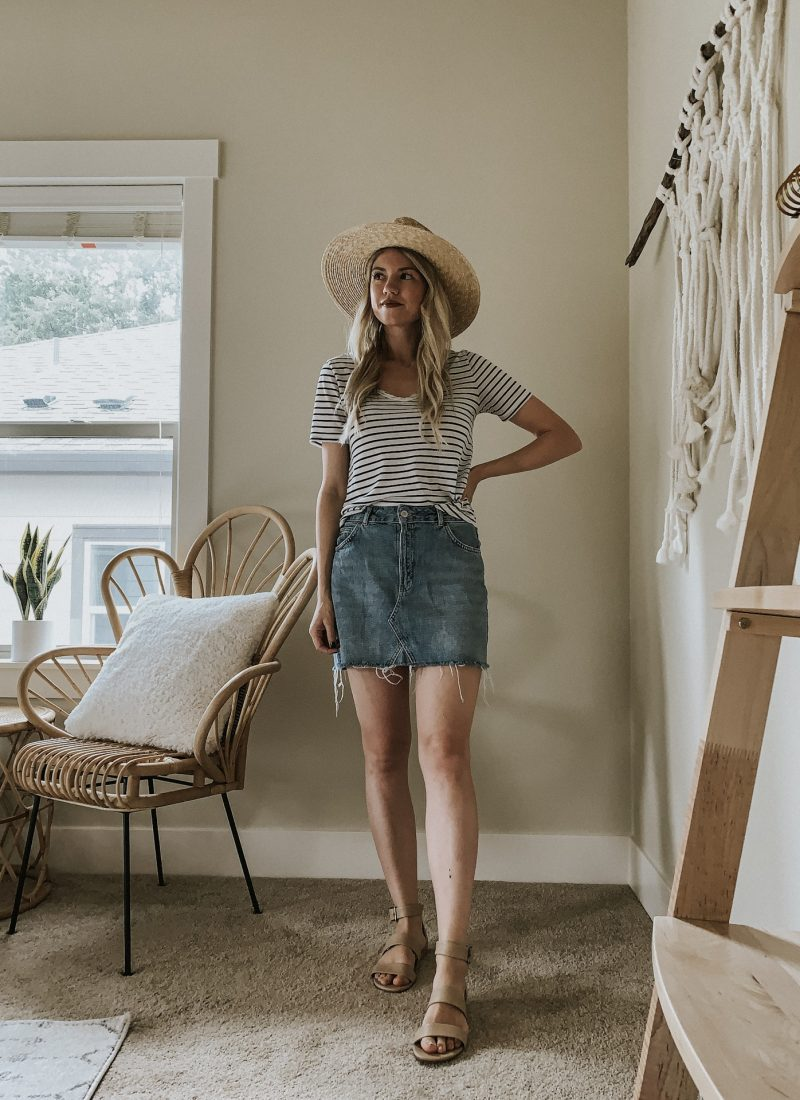 Sustainable Style Sessions | How to Style A Denim Skirt Four Ways