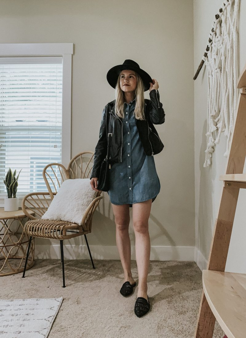 Sustainable Style Sessions | Denim Shirt Dress Four Ways