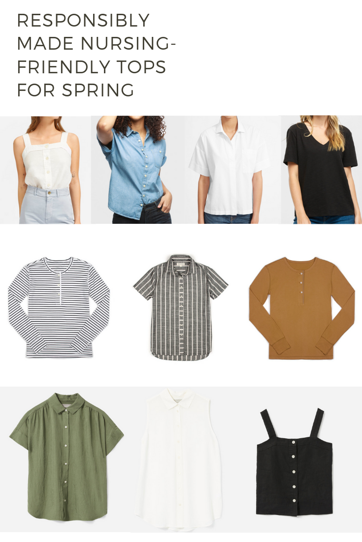 Responsibly Made Nursing-Friendly Tops for Spring