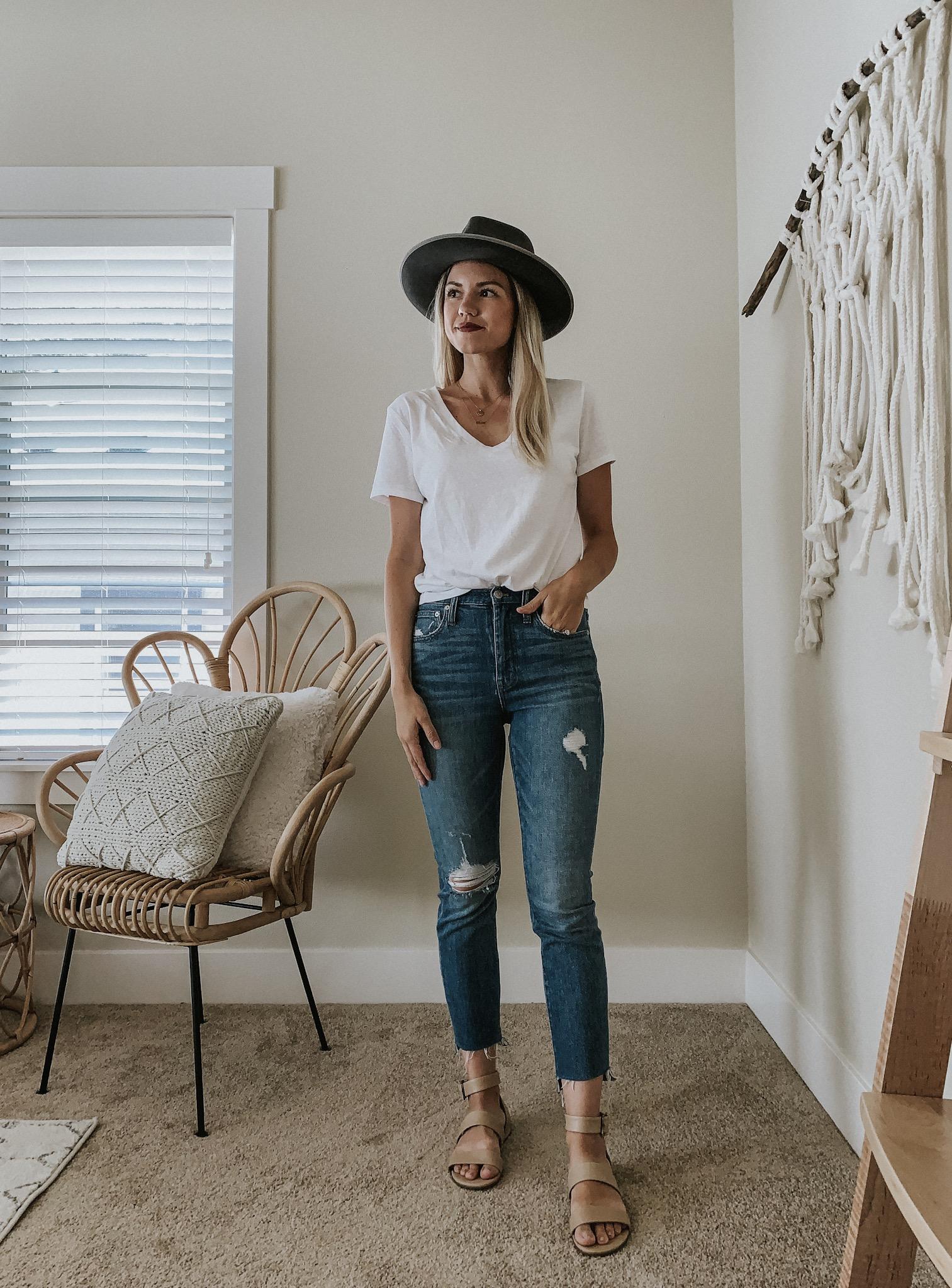 Shop Your Closet   White T-Shirt Four Ways