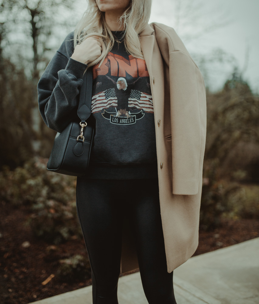 How to Style A Graphic Sweatshirt From Day to Night