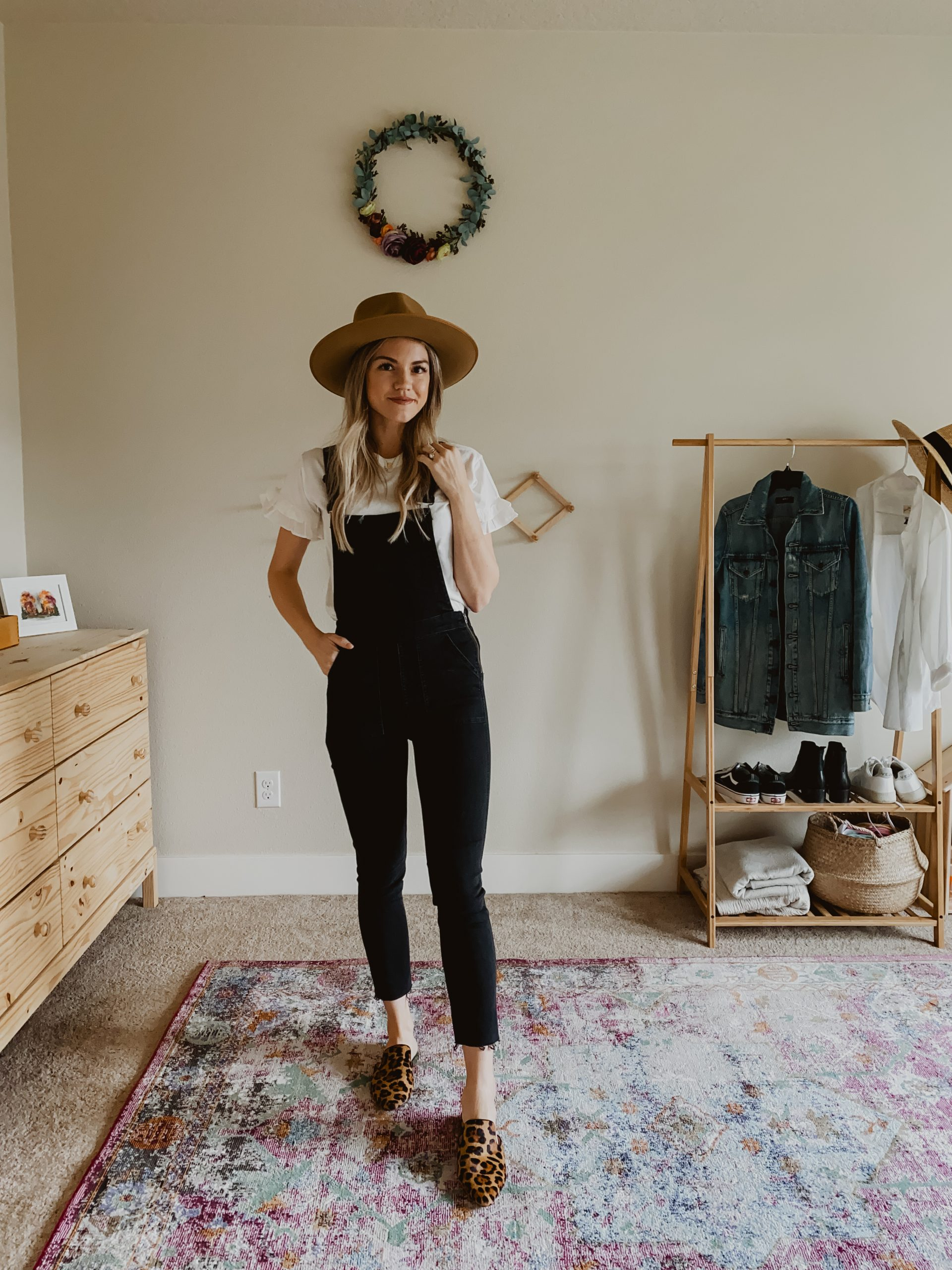 Black Overalls For Spring Five Ways