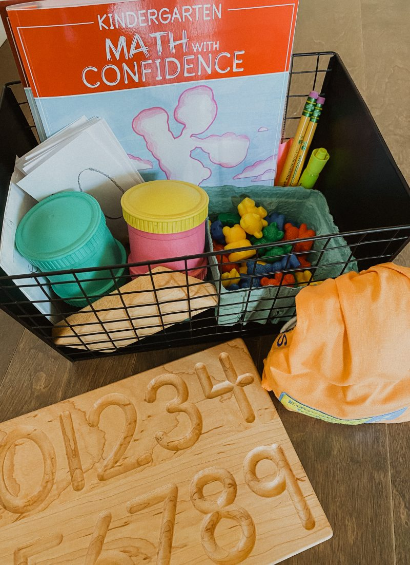 What's in Our Homeschool Math Basket?