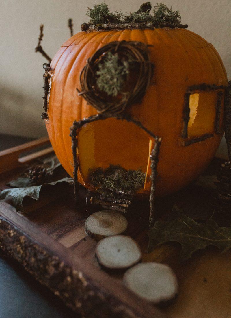 How to Make A Pumpkin House