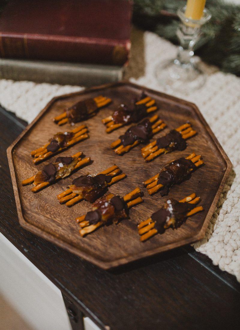 Chocolate Covered Pretzel Date Bites (Refined Sugar Free)